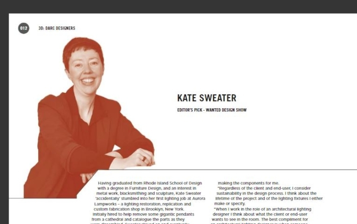 darc magazine feature on kate sweater